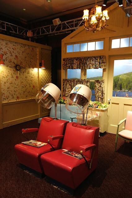 TV set design, 1950's hair salon