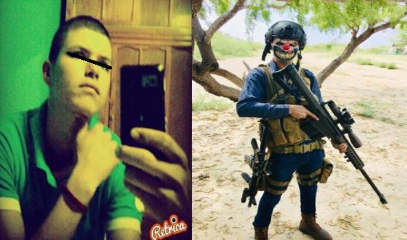 """""""Ya salio el peine, identifican a Sicario que patrullaba vestido con mascara de payaso se llama Eduardo y le dicen """"El Rubio"""""""