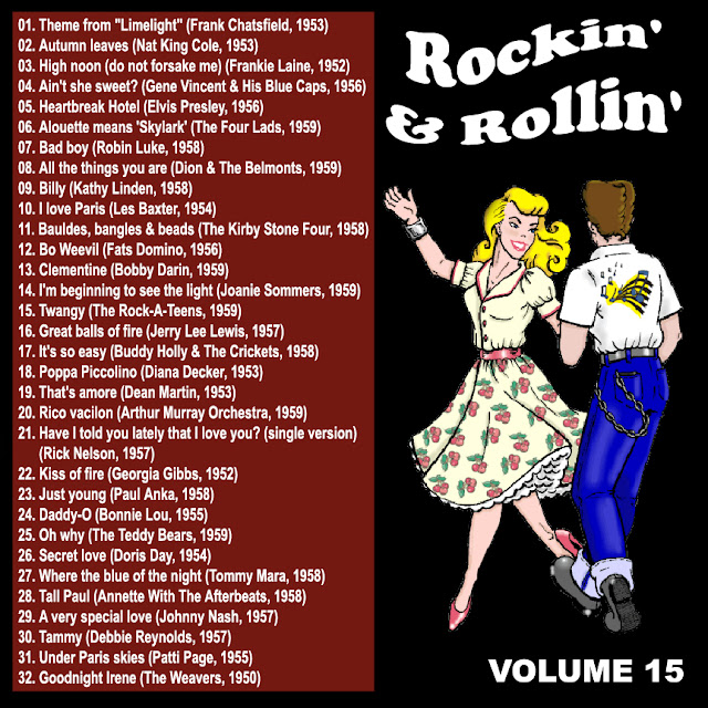 Cd collection Back To The 50's - Rockin' & Rollin' 15 Back