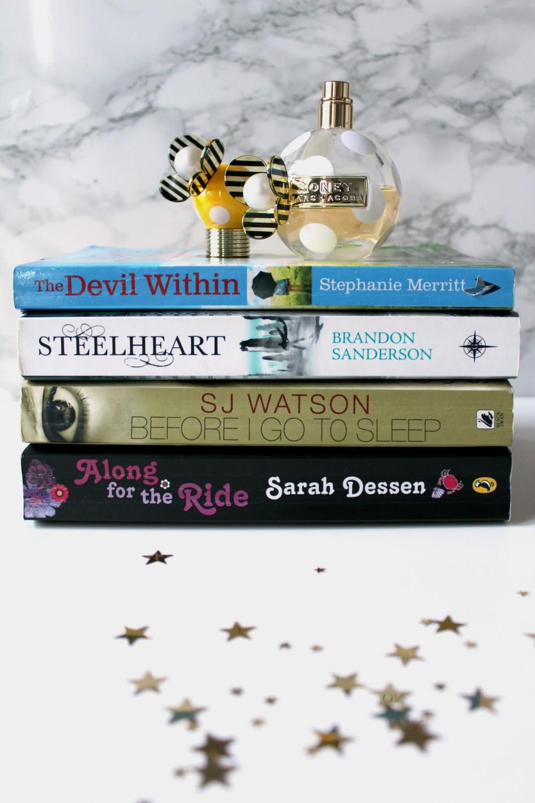 four books i love steelheart brandon sanderson the devil within stephanie merritt sj watson before i go to sleep along for the ride sarah dessen