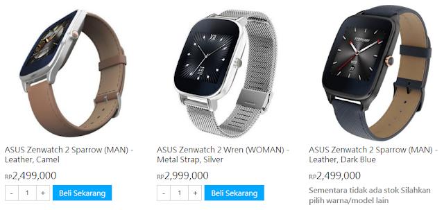 harga asus zenwatch 2 di asus store indonesia