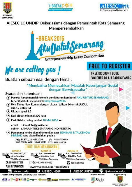 I-Break AIESEC Undip Seminar National and Talkshow