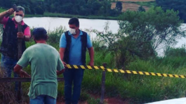 Manoel Ribas: Fiscais e PM isolaram represa no Assentamento Nova Itaúna