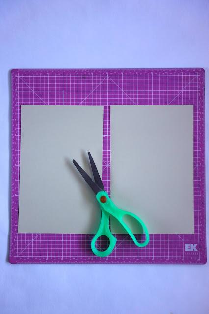 self-healing mat, scissors, card stock