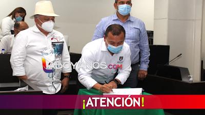 Alcalde Edgar Muñoz sancionó nuevo POT de Pitalito