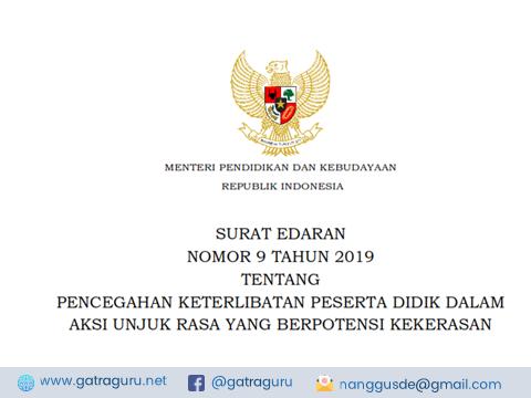 Surat Edaran Kemendikbud No 9 Tahun 2019