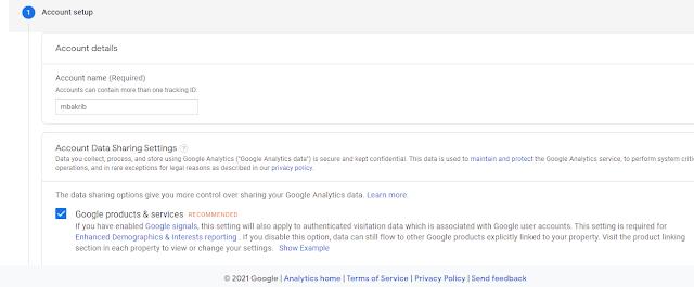 buat akun google analytics