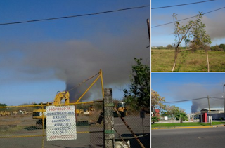 Alarma por incendio de pastizal en Boca del Río Veracruz