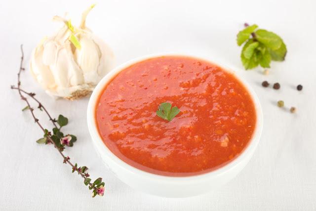 Tomaten- Dip mit Knoblauch, Rezepte. Edyta Guhl.