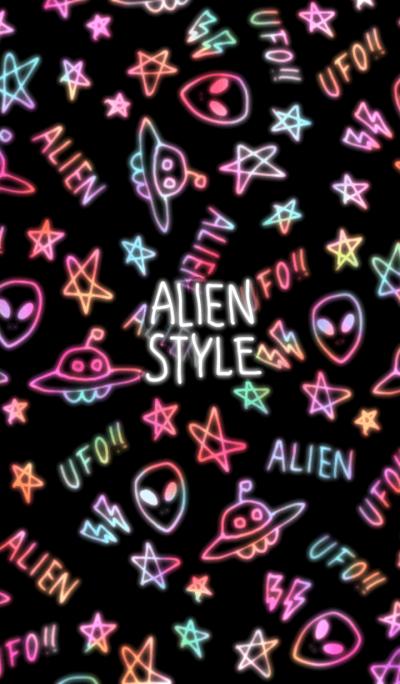 Alien style illust