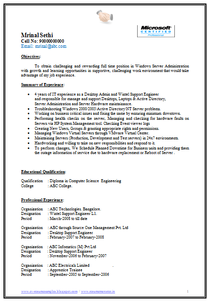 Best Resume Format Download For Experienced Resume Samples For Experienced Professionals Cv Format Over 10000 Cv And Resume Samples With Free Download Free