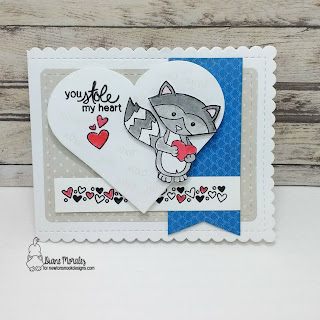 Sweetheart a card by Diane Morales - Sweetheart Tails Stamp Set by Newton Nook Designs