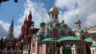 Kremlin, Museo Estatal de Historia de Rusia y Catedral de Nuestra Señora de Kazán.