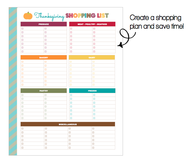 Clean Life and Home: FREEBIE: Printable Thanksgiving Shopping List