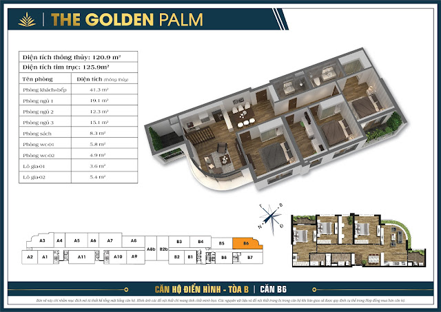 Căn B6 - 120m - The Golden Palm