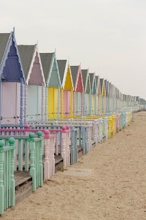 Pastel Beach huts and Summer Days