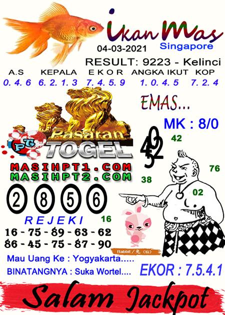 Syair Ikan Mas SGP Kamis 04-Mar-2021