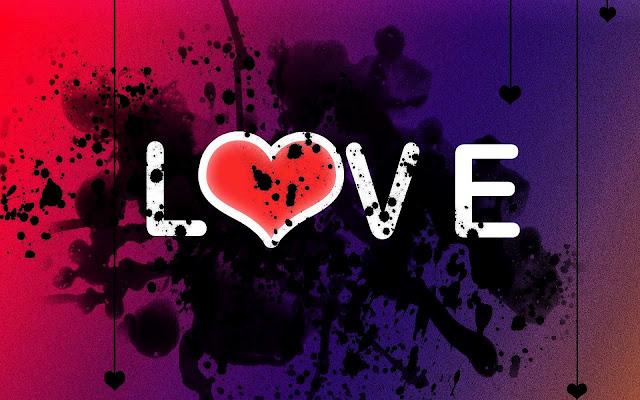 Liefde wallpaper met de tekst love