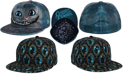 Disney's Alice Through the Looking Glass Hat Collection by New Era – Alice in Wonderland All Over 59FIFTY Fitted Hat & Alice in Wonderland Cheshire Cat Character59FIFTY Fitted Hat
