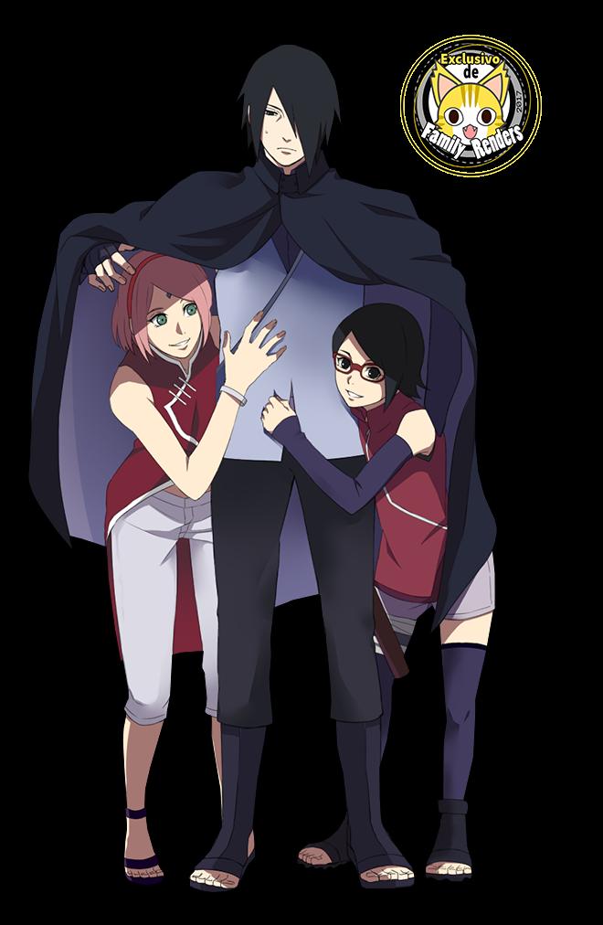 render Sasuke,Sakura y Sarada