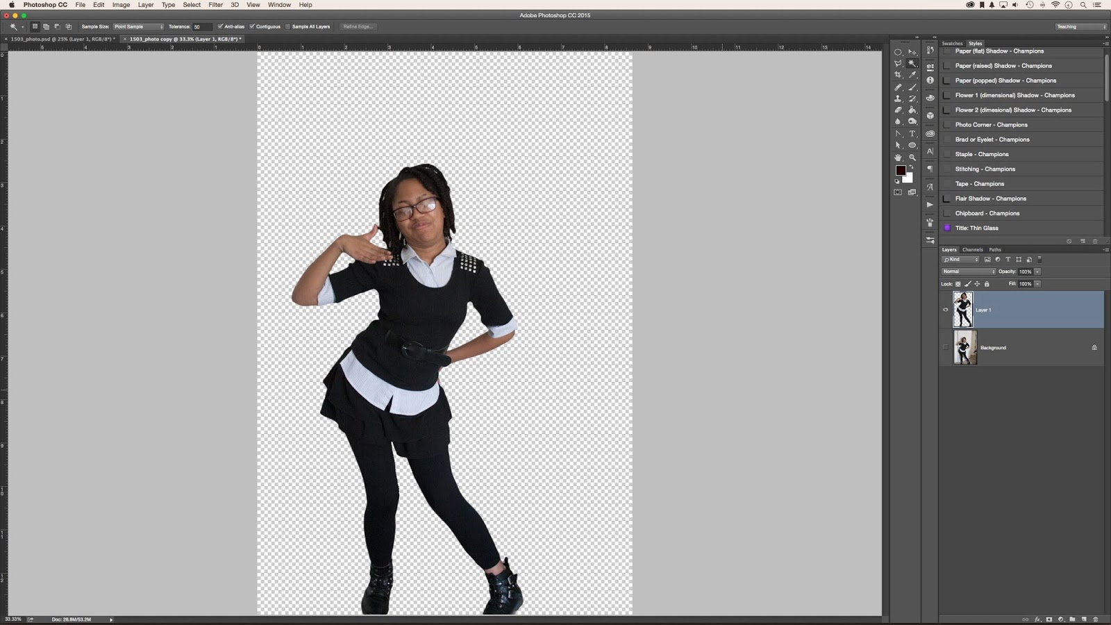 How to remove the image background in photoshop