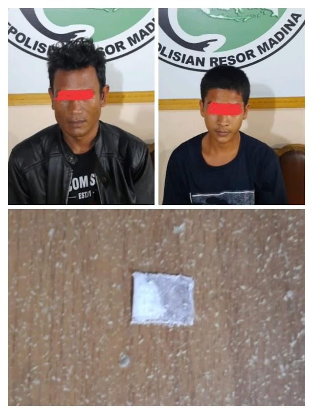 Sat Narkoba Polres Madina Amankan Dua Orang Pelaku Tindak Pidana Narkotika Jenis Sabu