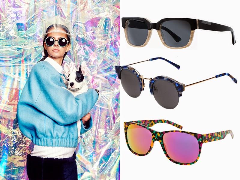 cc052b7a70 Con montura bicolor en negro y beis de Raen; de Gentle Monster con finas  patillas metálicas y detalles en acetato de colores; gafas de sol ...