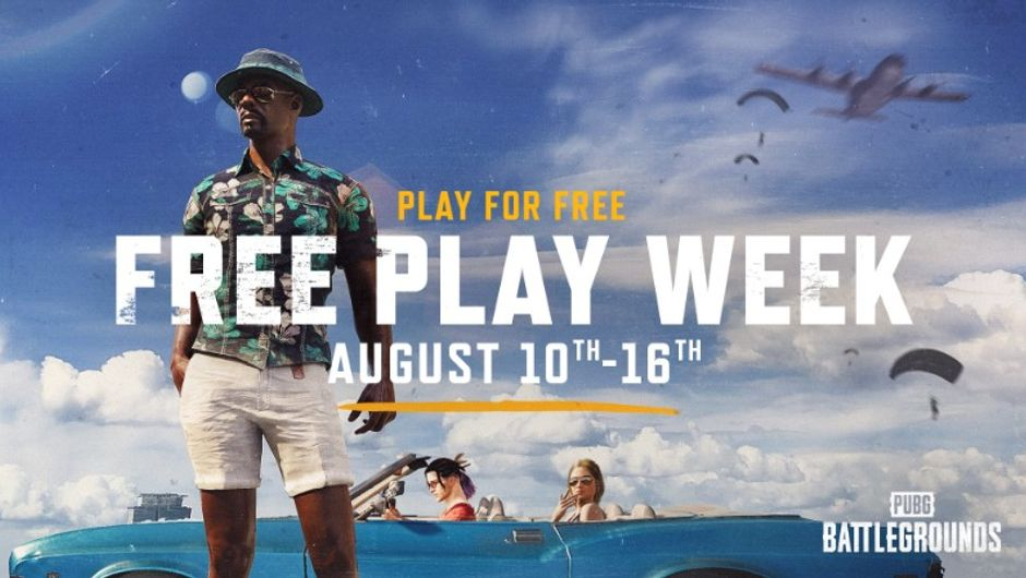 NEW PLAYERS CAN DROP INTO PUBG: BATTLEGROUNDS FOR FREE DURING A ONE-WEEK PROMOTION NOW THROUGH AUG. 16