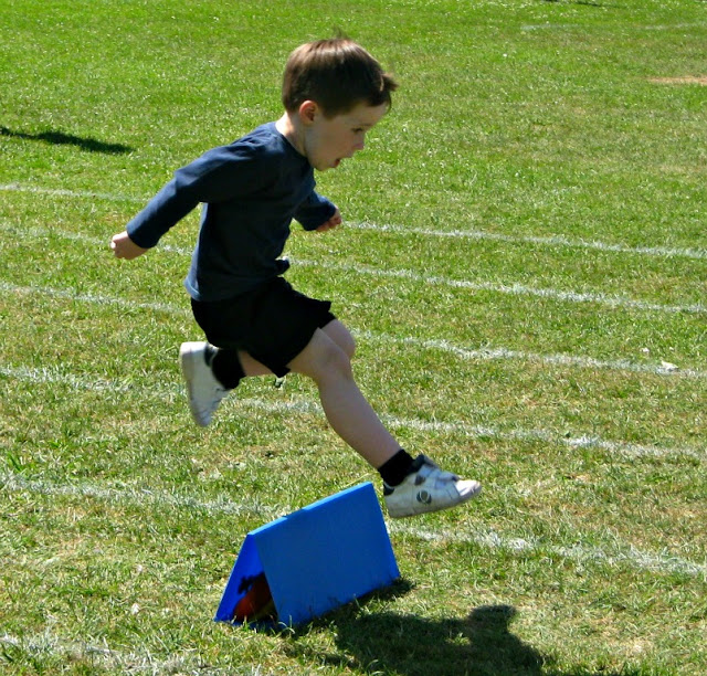 Boy Running Sports Day