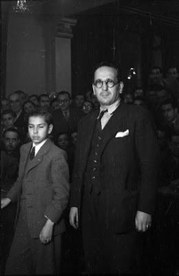 Arturito Pomar con Josep Borràs Clario en 1944