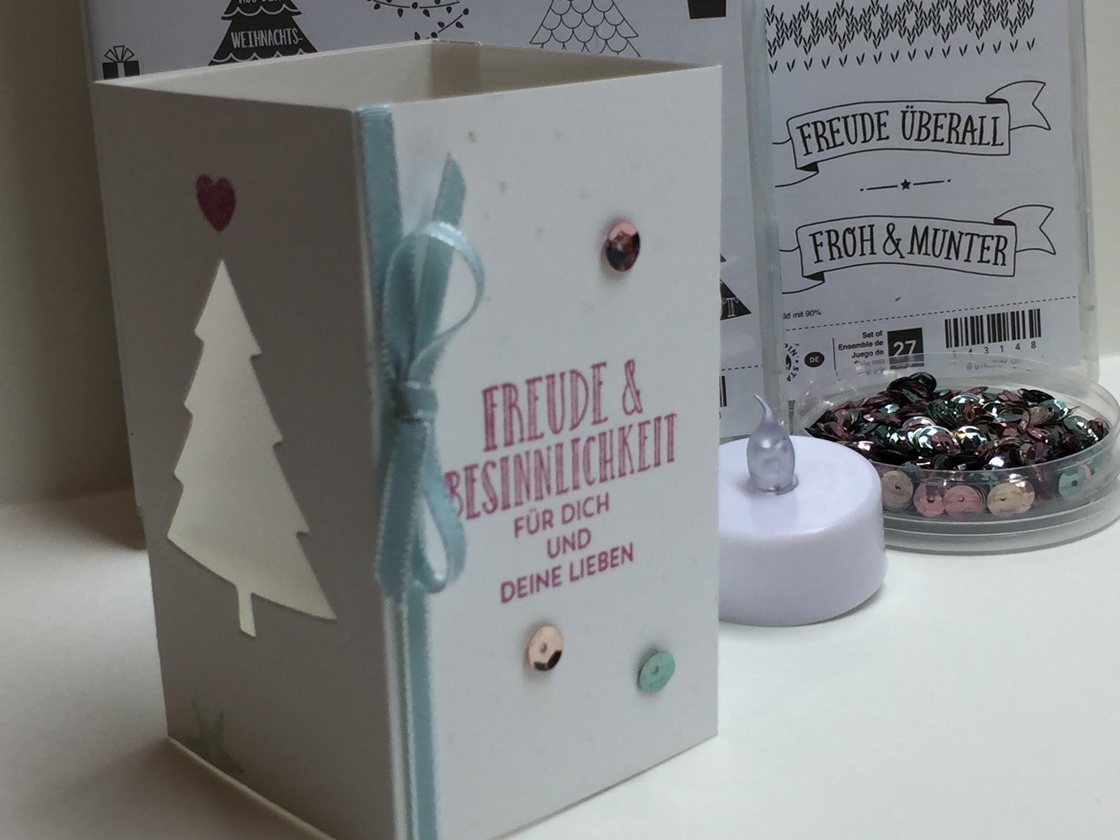 von hand von herzen von mir weihnachtliche windlichtkarte. Black Bedroom Furniture Sets. Home Design Ideas