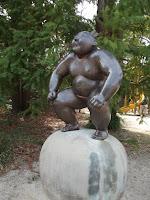 Sumo wrestler sculpture - Kyoto Botanical Gardens, Japan