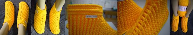 Pantufas em Crochê Passo a Passo para Destros e Canhotos com Curso Edinir Croche Club