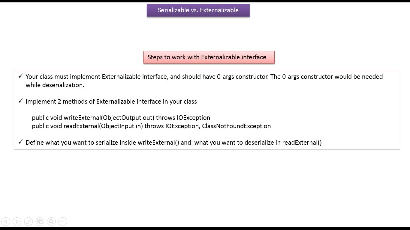 Java ee java tutorial java io java serializable vs java tutorial java io java serializable vs externalizable serialization vs externalization v7 baditri Image collections