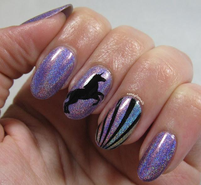 Magical Unicorn Holo Rainbow Nails
