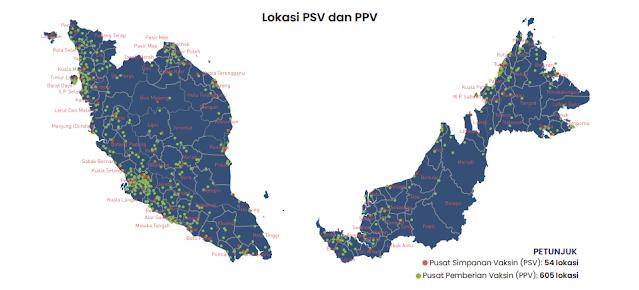 lokasi pusat pemberian vaksin (ppv) seluruh malaysia