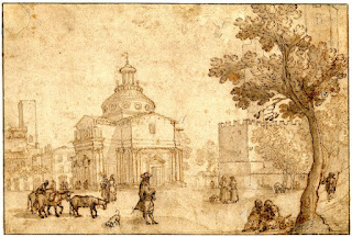 Piazza - Carceri - Disegno - Cantagallina - Prato