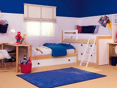 Dormitorio infantil color azul