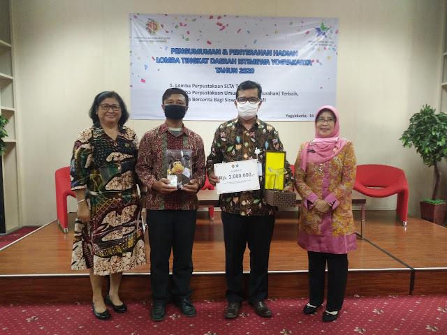 Hadiah Diserahkan, Ini Dia Para Pemenang Lomba Perpustakaan Desa/Kelurahan Tingkat Provinsi Daerah Istimewa Yogyakarta 2020