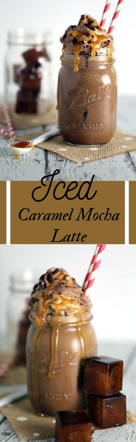 ICED CARAMEL MOCHA LATTE #latte #drink