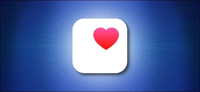 رمز صحة التفاح على خلفية زرقاء