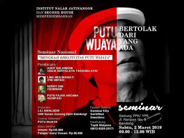 Seminar Nasional Mengkaji Kreativitas Putu Wijaya