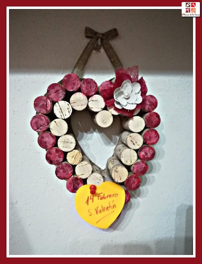 diy corazón de corcho para san valentín