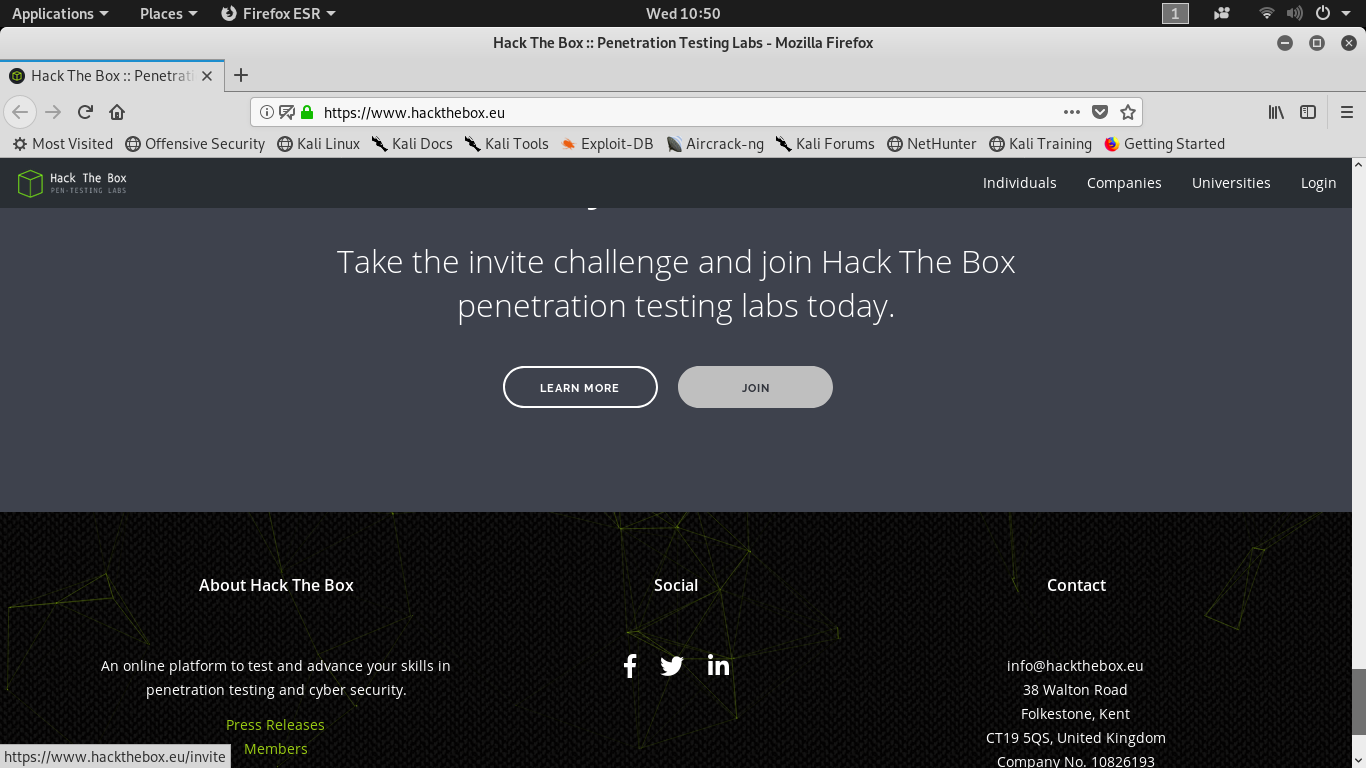 HackTheBox : how to get the invite code? - CYB3R LK