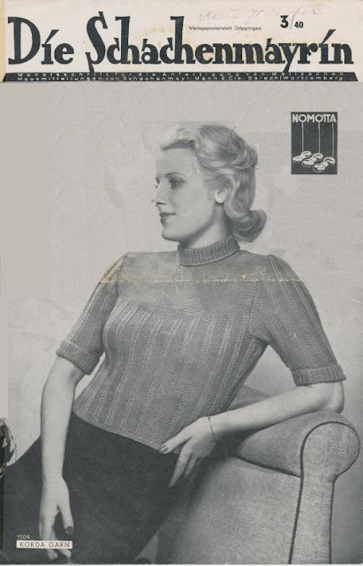 The Vintage Pattern Files: Free 1940's Knitting Pattern - Die Schachenmayrin 03