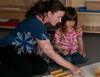 NAMC montessori teacher works with young child mixed age groups ministry regulations montessori schools