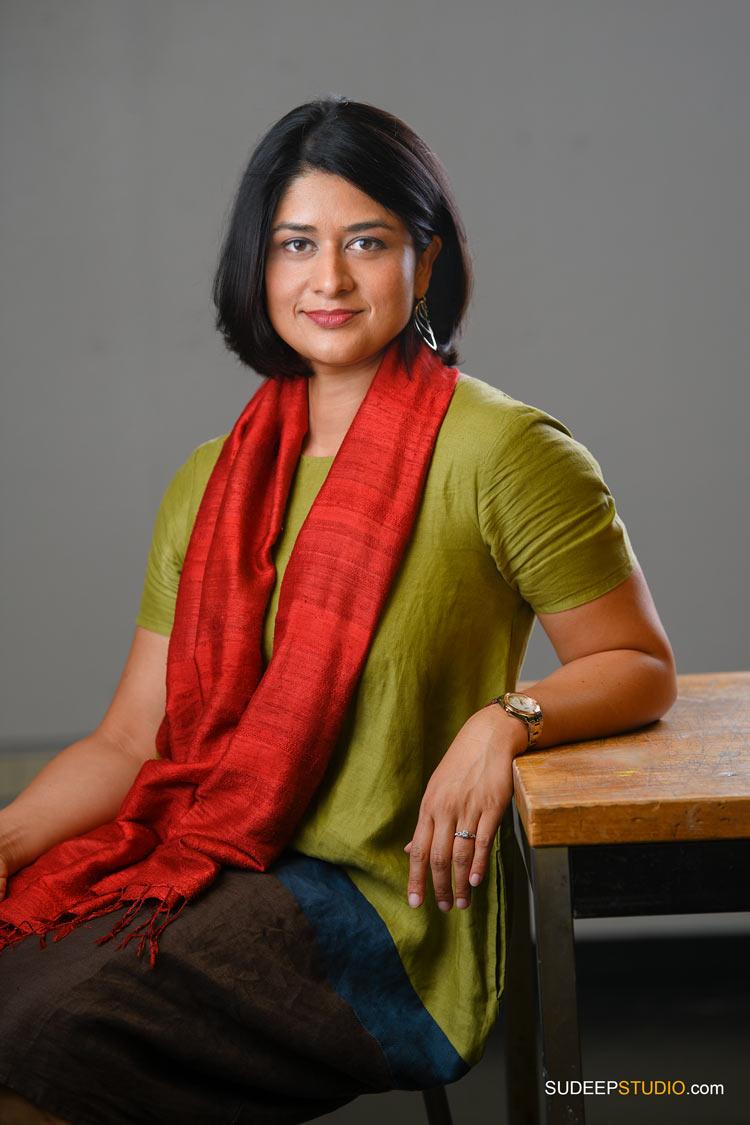 Indian Book Author Portrait for University of Michigan Academic Professor SudeepStudio.com Ann Arbor Author Headshot Photographer