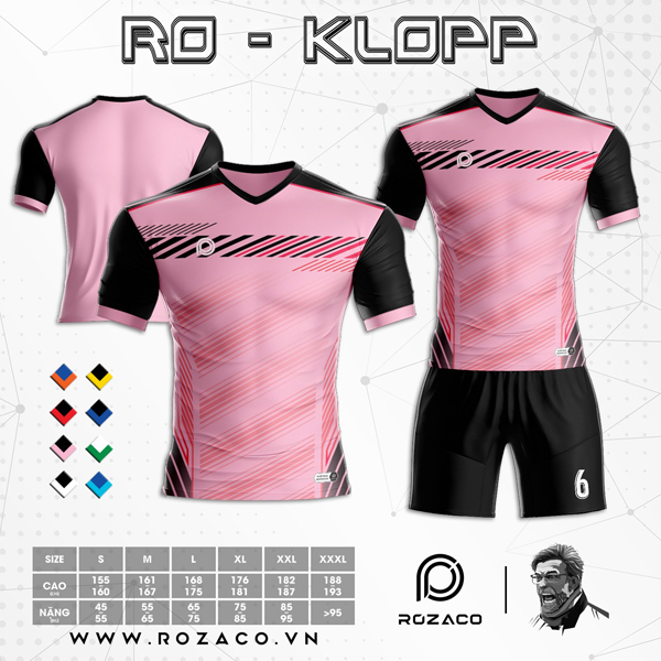 Áo Không Logo Rozaco RO-KLOPP Màu Hồng Phấn