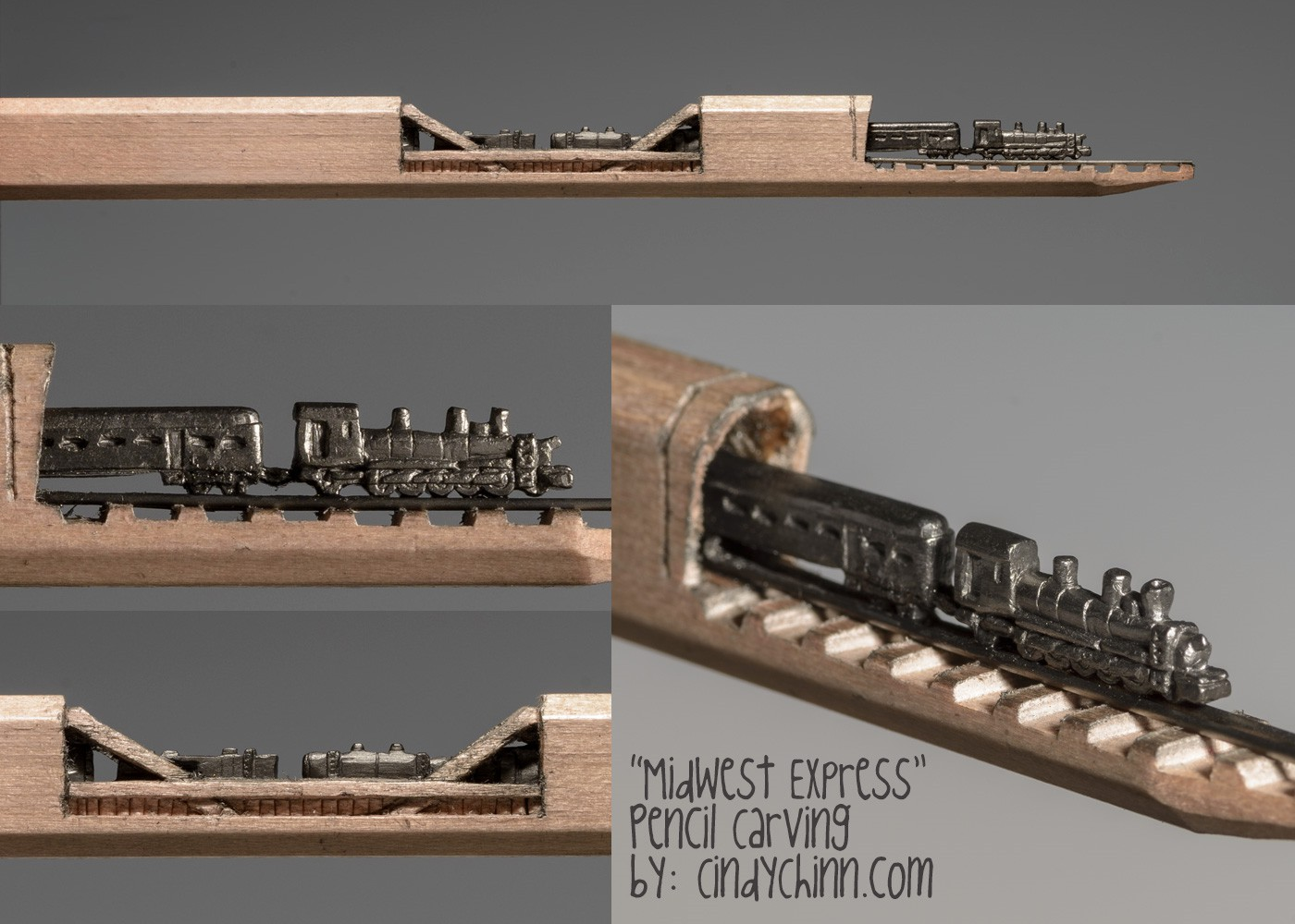 12-Midwest-Express-Train-Cindy-Chinn-Miniature-Carvings-of-Pencil-Graphite-www-designstack-co