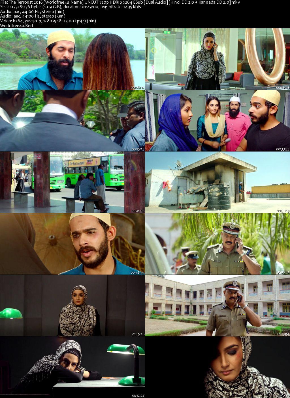 The Terrorist 2018 Hindi Dubbed HDRip 720p